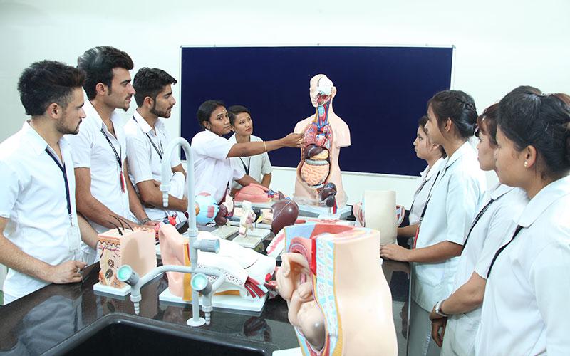 Harsha Paramedical College Anatomy class